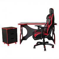 Набор геймерской мебели Barsky Game Homework Red HG-05/BG-02/CUP-05, фото 1