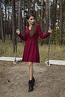 Платье в стиле бохо бордовое Rica Mare