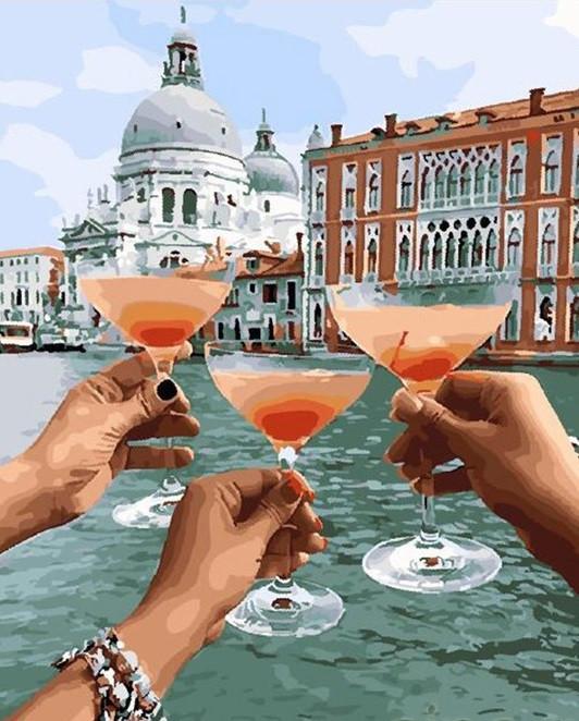 """Картина по номерам. Brushme """"Уикенд в Венеции"""" GX28159"""