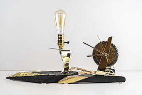 Комплект із світильника та годинника Pride&Joy з мореного дубу 01E