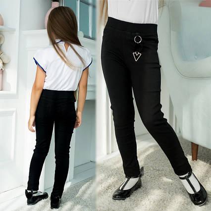 """Детские стильные брюки 480 """"Джинс Стрейч Подвеска"""" в школьных расцветках"""
