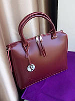 Женская сумка кожа  бордовая реплика Фенди , кожаные женские сумки