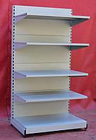 Торговые односторонние (пристенные) стеллажи «Вико»195х100 см., серый, Б/у, фото 1