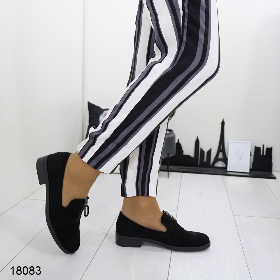 Женские замшевые туфли на низком каблуке, А 18083