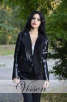Пальто С эко-кожей черное