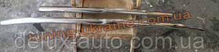 Защита переднего бампера труба двойная на Daewoo Lanos