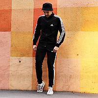 Спортивный костюм мужской черный Adidas, комплект спортивный мужской Адидас