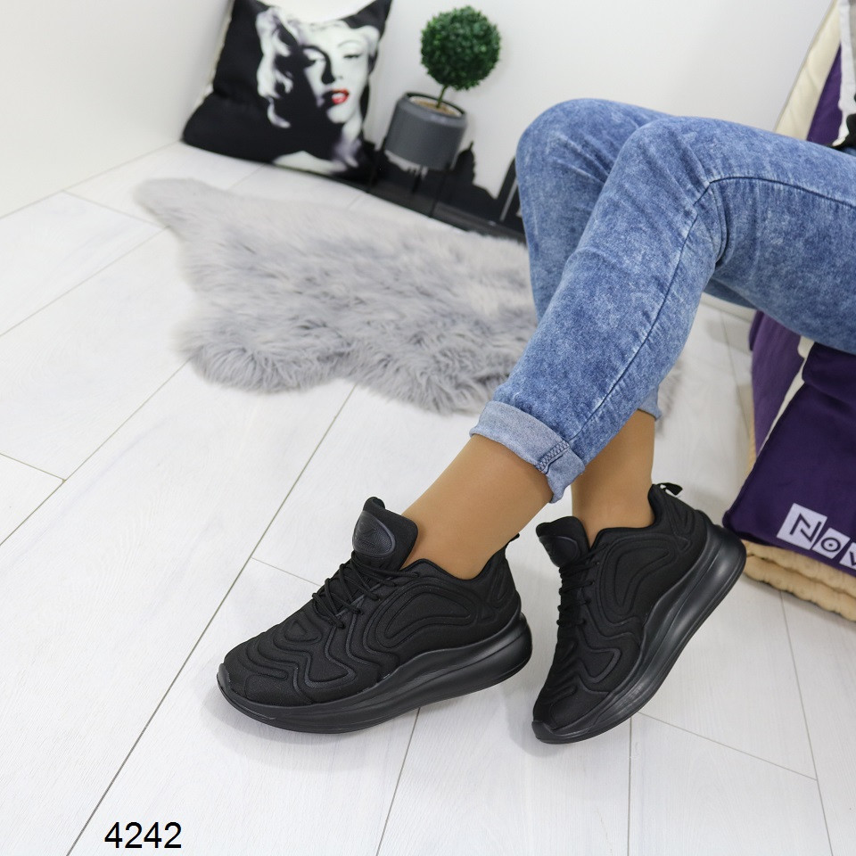 Женские черные кроссовки , А 4242