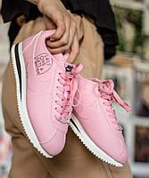 Женские кроссовки Nike Cortez x Nathan Bell, Pink. Живое фото. Топ реплика ААА+