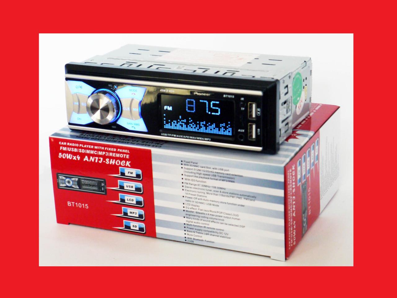 Pioneer BT1015 ISO - MP3+FM+2xUSB+SD+AUX + BLUETOOTH