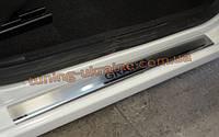 Накладки на пороги из нержавеющей стали для ВАЗ 2190 Гранта
