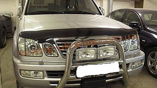 Дефлекторы капота Sim для Lexus LX 1998-07 с надписью