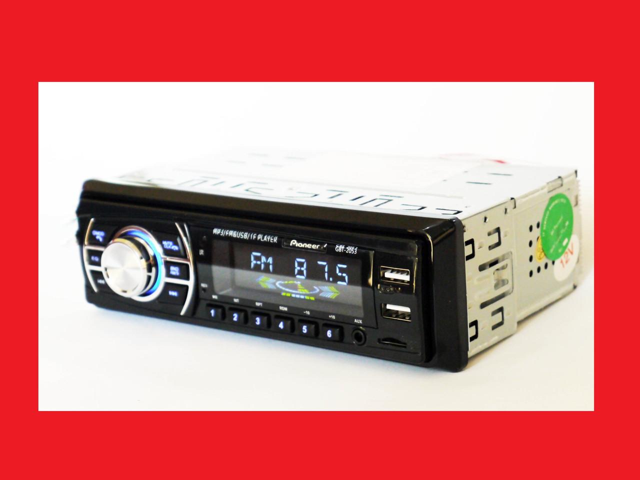 Pioneer BT2053 ISO - MP3+FM+2xUSB+SD+AUX + BLUETOOTH