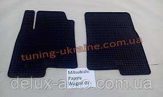 Коврики в салон резиновые Politera 2шт. для Mitsubishi Pajero Wagon 4 2006-2014