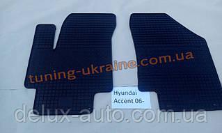 Коврики в салон резиновые Politera 2шт. для Hyundai Accent 3 2006-2010