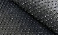 Плюшевый чехол на кушетку 80 см на 200 см - темно-серый в пупырышку