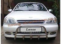 Защита переднего бампера кенгурятник (из нержавеющей стали) D42 на Chevrolet Lanos Хэтчбек 2005-09