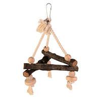 Trixie Natural Living Swing on Rope качели из натурального дерева 16х16х16см