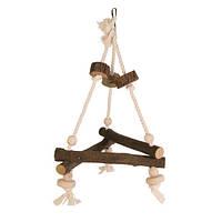 Trixie Natural Living Swing on Rope качели из натурального дерева 27х27х27см