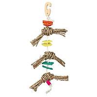 Trixie Natural Toy on a Sisal Rope игрушка на сизалевой веревке 43см