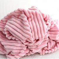 Плюшевый чехол на кушетку розовый 80 см на 200 см