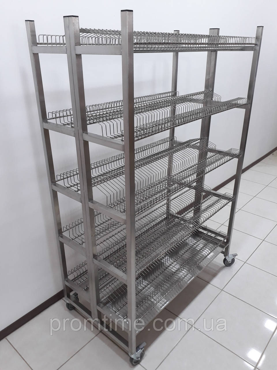 Стеллаж для сушки посуды 1200х640х1800 (сдвоеный)