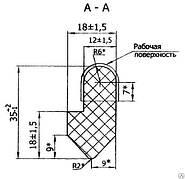 Уплотнение разгрузочного люка (литое)
