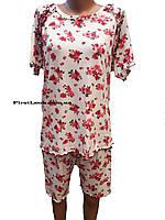 Женская пижама бриджи и футболка из бамбука, фото 1