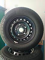 215/65/R15C Ford Комплект стальные диски + шины + колпаки 4шт. Лето