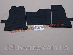 Коврики в салон резиновые Politera 3шт. для Ford Transit 2000-2006