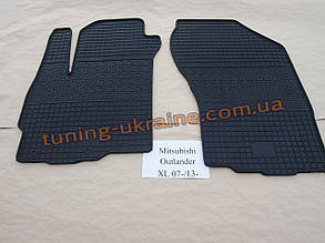 Коврики в салон резиновые Politera 2шт. для Mitsubishi Outlander 2006-2012