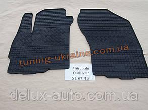 Коврики в салон резиновые Politera 2шт. для Mitsubishi Outlander XL 2012-2014