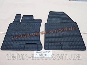 Коврики в салон резиновые Politera 2шт. для Nissan Qashqai 2006-2011