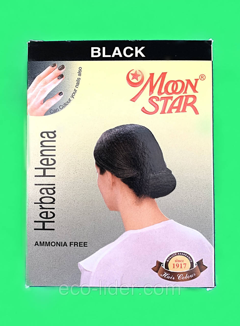 Натуральная хна для волос Мун стар (Moon Star) черная 10г