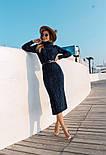 Женское вязаное платье удлиненное с разрезом (в расцветках), фото 4