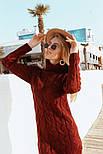 Женское вязаное платье удлиненное с разрезом (в расцветках), фото 5
