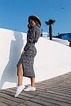 Женское вязаное платье удлиненное с разрезом (в расцветках), фото 9