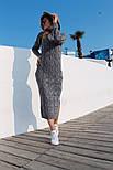 Женское вязаное платье удлиненное с разрезом (в расцветках), фото 8