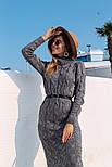 Женское вязаное платье удлиненное с разрезом (в расцветках), фото 10