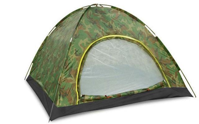 Двухместная туристическая палатка автомат №8-2 Камуфляжная