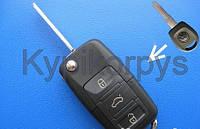 Фольксваген (Volkswagen)Пассат Б3, Гольф, Шаран выкидной ключ (корпус) без лезвия.