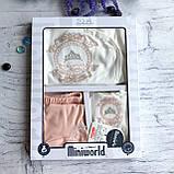 Крестильный костюм,  набор на выписку для девочки Miniworld 4. Размер 62 см, фото 2