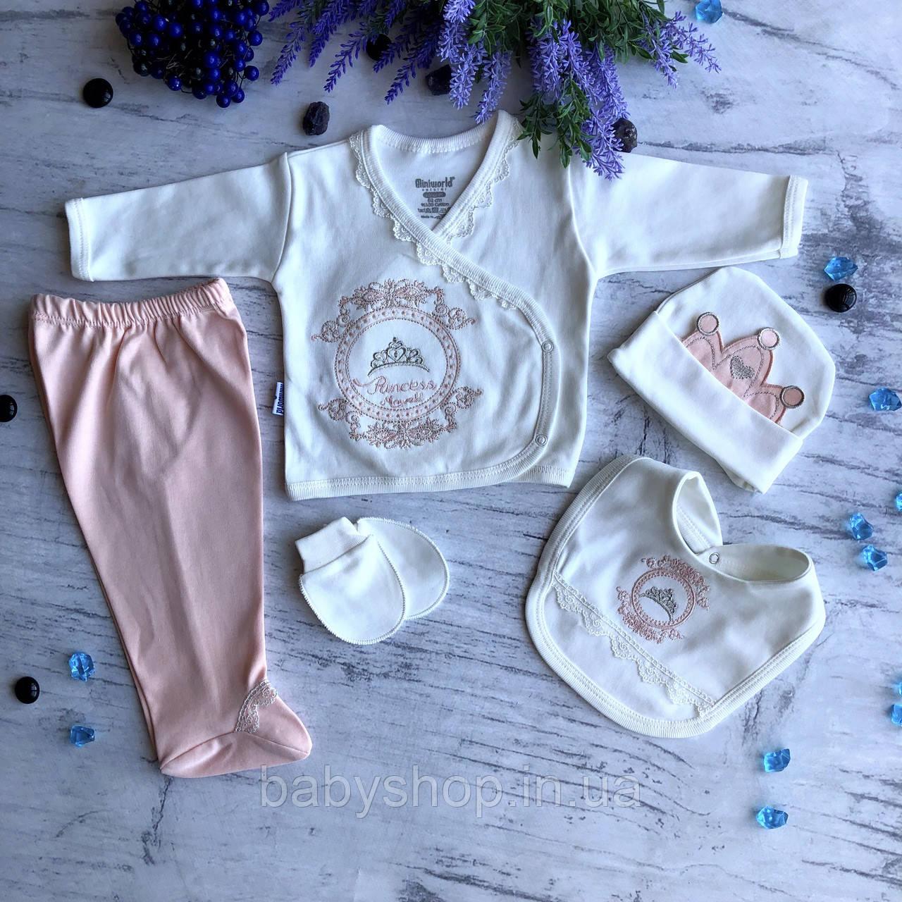 Крестильный костюм,  набор на выписку для девочки Miniworld 4. Размер 62 см
