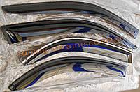 Дефлекторы боковых окон (ветровики) AutoClover для Kia Rio 2 2005-11 седан