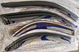 Дефлекторы боковых окон (ветровики) AutoClover для Kia Rio 3 2011-15 седан