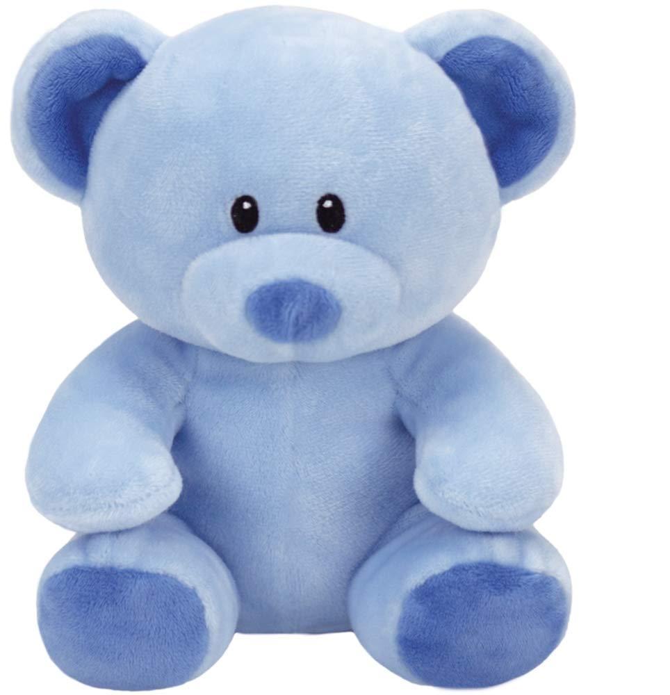 Дитячий плюшевий ведмедик блакитного кольору 15 см