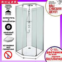 Душевая кабина 90x90 см Ido Comfort Showerama 10-5 прозрачное/матовое стекло 558.124.00.1