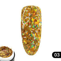 Glitter gel 5 грамм  Global Fashion 03