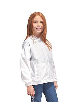 Промо куртка ветровка  размер 104 под сублимацию детская цвет белый