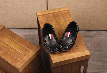 Туфли  детские  на мальчика черные из эко кожи  21-35р. весна-осень, фото 2